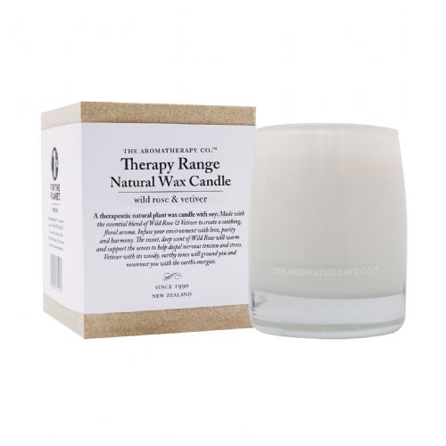 Wild Rose & Vetiver Scented  Aromatherapy Candle To Promote Calm and Wellbeing